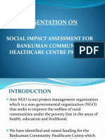 Social Impact Assessment Bankuman Community Healthcare Project