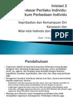 Modul 2 - Dasar-dasar Perilaku Individu Hukum Perbedaan Individu