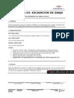 OC.gaa.PR.03 Excavación de Zanja Rev. 01