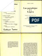 (Cuadernos Teorema 4) Evert W. Beth-Las Paradojas de La Lógica-Revista Teorema (1975)