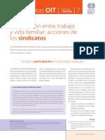 Conciliación Entre Trabajo y Vida Familiar Acciones de Los Sindicatos