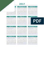 Calendario 2017 Etna