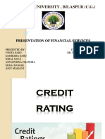 UNIT -5 Credit Rating Ppt ( Financial Services )