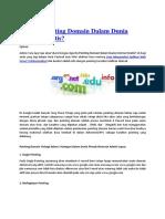 Apa Itu Pointing Domain Dalam Dunia Internet Gratis