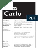 Mar 13 Don Carlo