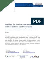 Avoiding the shoebox - managing expenses in small and medium enterprises