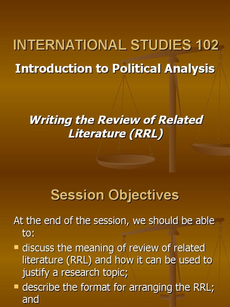 related studies literature
