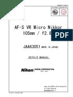 Af-s 105mm f2,8d g Vr Micro