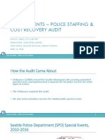 SPD Staffing & Cost Recovery Audit