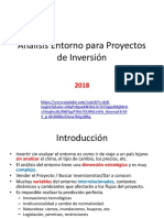 Análisis Entorno Para Proyectos de Inversión 2018