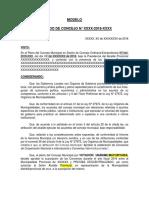 Modelo de Acuerdo de Concejo 2018