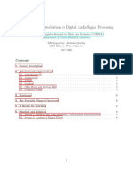 Introduction to Digital Audio Processing