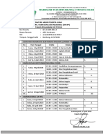 Daftar Hadir Peserta Ujian