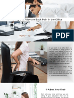 5 Ways to Alleviate Back Pain in the Office