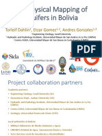 Geophysical Mapping of Aquifers in Bolivia