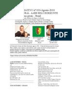 INF nº 010 CORAL AABB-BH BERTURA-PÇA DA LIBERDADE