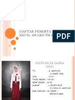 Daftar Peserta Dokter Kecil Award Th 2016