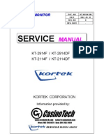 CRT Monitor KT2914F 2914DF Service Manual