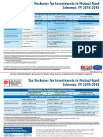 Tax Reckoner for Investments in Mutual Fund Schemes FY 2018-2019