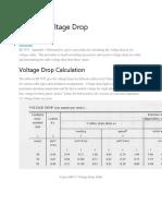BS 7671 Voltage Drop