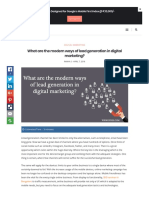 What Are the Modern Ways of Lead Generation in Digital Marketing