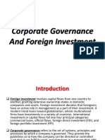 Corporate Governance and Foreign Investment