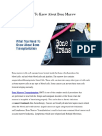 What You Need to Know About Bone Marrow Transplantation