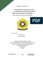 Wawa Anisa (Proposal) - Eksperimen