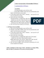 Guideline eReturn Demat CST Form