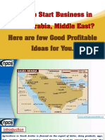 Want to Start Business in Saudi Arabia, Middle East? Here are few Good Profitable Ideas for You.