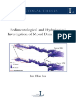SEDIMENTOLOGICAL AND HYDROLOGICAL INVESTIGATION OF MOSUL DAM RESERVOIR
