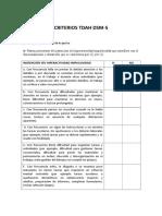 DSM v Criterios Tdah TABLA