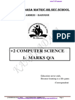 12th Computer Science 1 Mark Questions Em
