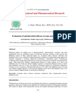 Evaluation of Antimicrobial Efficacy of Some Medicinal Plants
