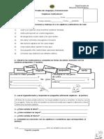 Prueba de Lenguaje Adjetivos Calificativos 1