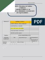 Lab 01 - Mecanica de Solidos Grupo -D