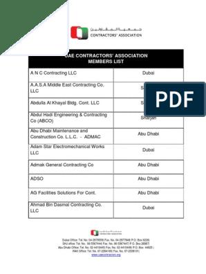 Member List 2017 | Dubai | United Arab Emirates