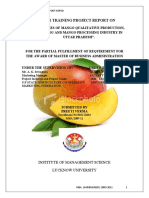 Detail Studies of Mango Qualitative Production, Its Marketing and Mango Processing Industry in Uttar Pradesh