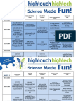 HighTouch HighTech Science Holiday Camp Timetable