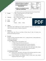 3. SPO Pelaporan Kondisi Pasien Kepada Dokter