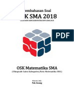 Pembahasan Soal OSK Matematika SMA 2018 Tingkat Kabupaten