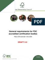 FSC-STD-20-001 V4-0 en General Requirements for CBs D2-0