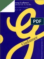 Gadamer - La actualidad de lo bello.pdf