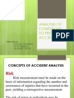 Analysis of Conditions to Prevent Accident