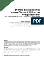 Experiência Das Narrativas Cross e Transmidiáticas No Webjornalismo