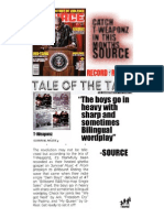 T-Weaponz in The Source Magazine, Tale of the Tape