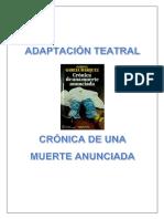 Adaptación Teatral - Crónica de Una Muerte Anunciada