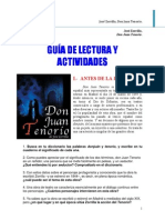 Guía  de lectura de Don Juan Tenorio