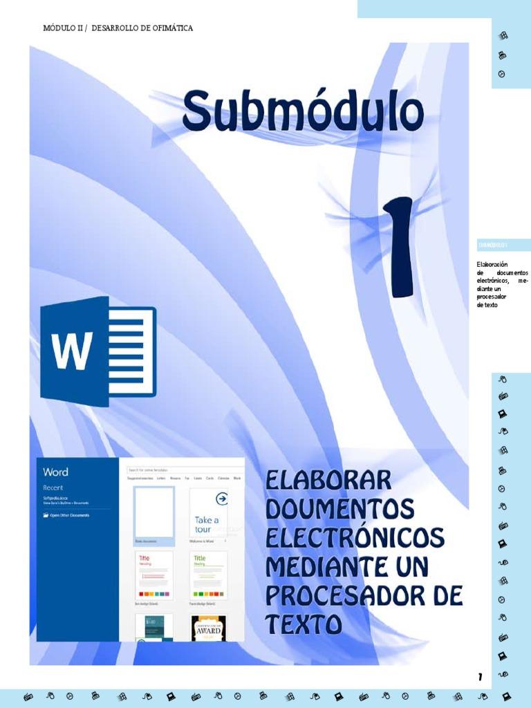 Módulo Ii Desarrollo De Ofimática Microsoft Word