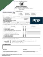 e Readiness Form
